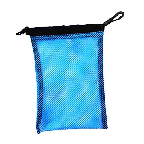 Gazechimp Mesh Bag Tauchen Schnorcheln Schwimmen wassersport Zubehör Aufbewahrungsbeutel Sport Netztasche, Strand Netzbeutel Flossen Beutel - Blau