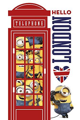empireposter Minions - London Telefonzelle - Poster Plakat - Größe 61x91,5 cm