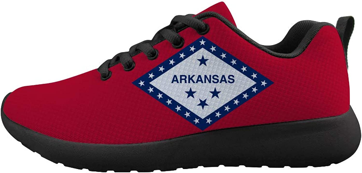 Owaheson Cushioning Sneaker Trail Running shoes Mens Womens Free State Arkansas Flag