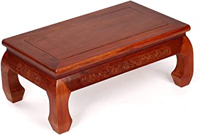 Coffee Table Chinese Bay Window Table Solid Wood Tatami Small Coffee Table Low Table Tea Table Tables (Color : Brown, Size : 51 * 31 * 21.5cm)