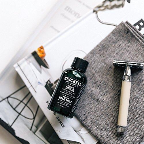 Brickell Men's Products Hybride Glide pré-rasage Oil - huile de pré rasage naturel et organique -...