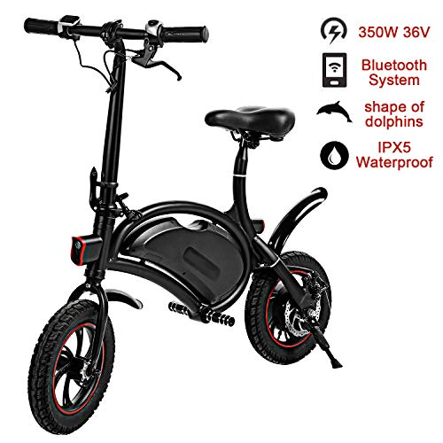 shaofu Folding Electric Bike– 350W 36V Electric Bicycle Waterproof E-Bike with 15 Mile Range,...