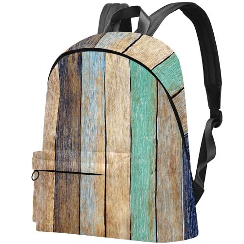 LAZEN Mochila ligera Mochila escolar universitaria Mochila portátil para adultos y adolescentes Mochila informal de madera colorida