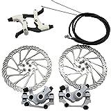 Mechanische Scheibenbremsen Set vorne hinten Bremssattel Bremskit Bremshebel Bremskit 160mm Rotoren für Mountainbike-Teile