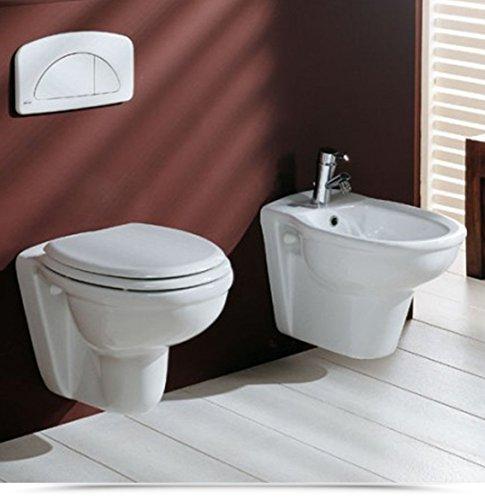 Sanitari per bagno moderni WC e bidet sospesi in Ceramica Vaso con copriwater I