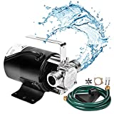SumpMarine Water Transfer Pump, 115V 330 Gallon Per Hour - Portable Electric Utility Pump with 6' Water Hose Kit - To Remove Water From Garden, Hot Tub, Rail Barrel, Pool, Ponds, Aquariums, and More