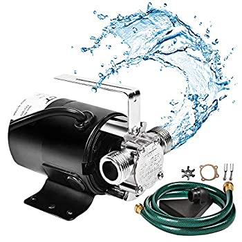 SumpMarine Water Transfer Pump 115V 330 Gallon Per Hour - Portable Electric Utility Pump with 6  Water Hose Kit - To Remove Water From Garden Hot Tub Rain Barrel Pool Ponds Aquariums and More