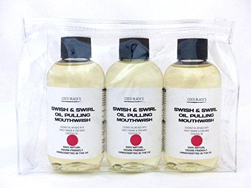 Lot de 3 flacons de 100 ml d'huile de noix de coco et d'anis étoilé avec une huile essentielle d'orange douce et d'anis étoilé.