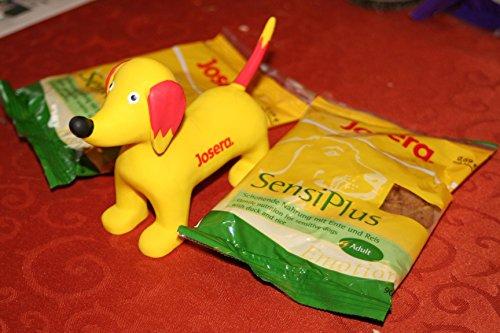 Josera Quietsche-Hund Seppl gelb und 2 Futterproben Josera Hund