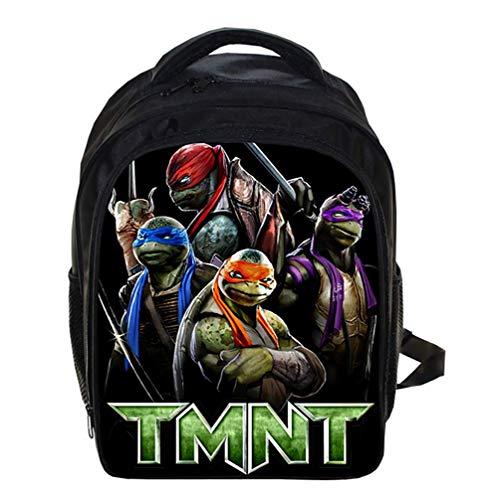 Canvas Rucksack für die Schule Leicht Teenage Mutant Ninja Turtles Büchertasche für Kinder Grundstufe Schultaschen für Jungs 12,99 * 5,7 * 9,44 Zoll,F