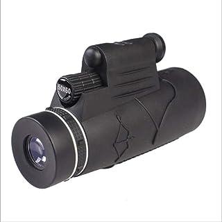 HYY-YY - Monocular HD con zoom y soporte para teléfono y trípode monocular para observación de aves caza camping senderismo al aire libre 50 veces telescopio prismáticos