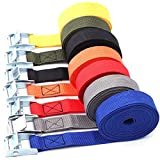 DIY Crafts Buckle Tie-Down Belt Cargo Straps for Car Motorcycle Bike with Metal Buckle Tow Rope...