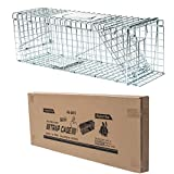 D4P Display4top Animal Trap Cage Trampa de Captura de Animales Vivos, Gatos, Perros, Conejos, roedores (79 x 28 x 33cm)