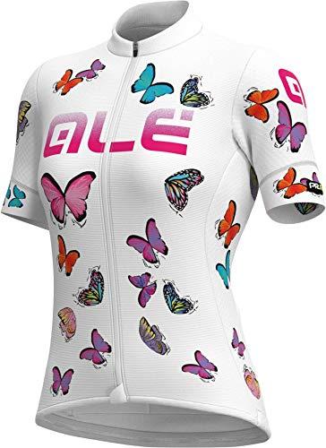 Ale Damen Butterfly Radtrikot, White