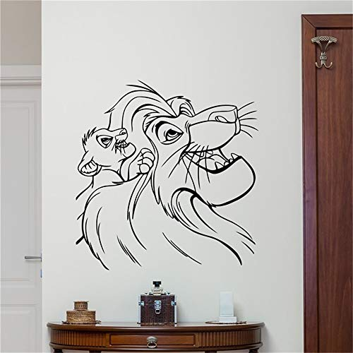 Roi Lion Dessins Animés Autocollant Simba Nursery Enfants Chambre de bébé Home Decor