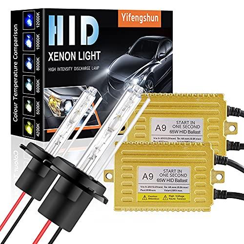 65W H7 Kit de Conversión de Xenón HID para Automóvil Balastos HID Ultrafinos Inicio Rápido Xenón Blanco Extremadamente Brillante 6000K