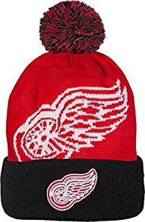 Detroit Red Wings New Era NHL Woven Biggie 2 Cuffed Knit Hat