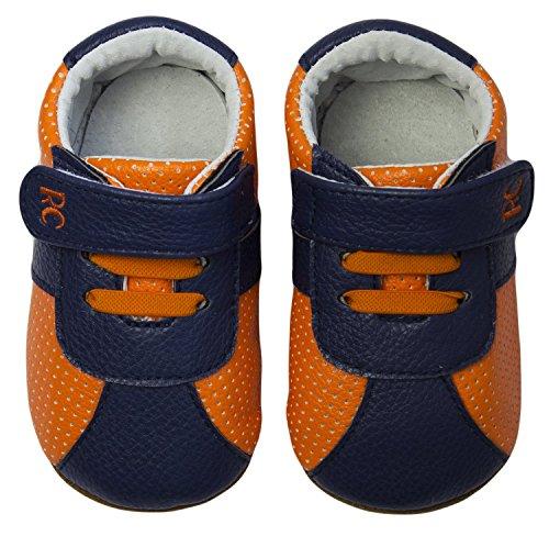 Rose & Chocolat RCM Neon Orange RunnerZ baby's (jongetjes) huisschoenen