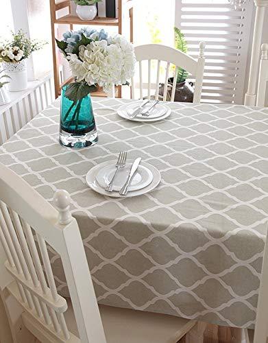 Mantel de Lino de Campo a la Moda, decoración de Cocina para el hogar, Cubo de impresión, Mantel Rectangular de Estilo Multifuncional, S140x220cm