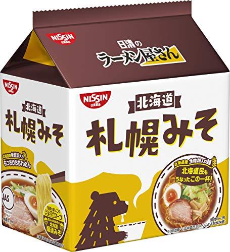 日清食品 日清のラーメン屋さん 札幌みそ味5食パック ×6個