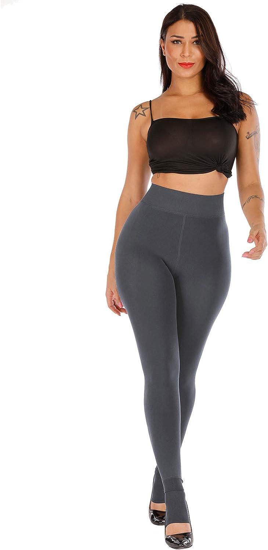 Thick Velvet Tights Thermal Pants CHRLEISURE Womens Winter Warm Fleece Lined Leggings