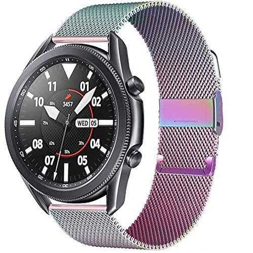 CMYYFA 20 / 22mm para Huawei Watch GT2 Pro/FIT Band para Samsung Galaxy Watch 3 45 / 41mm Cinturón de Acero Inoxidable Milanese Active 2 46 / 42mm Correa