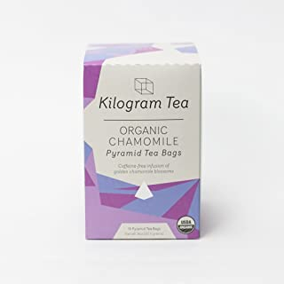 Kilogram Tea - Organic Chamomile Pyramid Tea Bags - Caffeine Free - Sustainably Produced - 15 count box