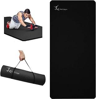Primitique ヨガマット 10mm トレーニングマット 幅広 185*80cm エクササイズマット yoga mat 筋トレ ピラティス マット NBR 高密度 ニトリルゴム 軽量 耐久性 肌に優しい 滑り止め 収束バンド付き