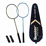Senston 100% Full Carbon Fiber Badminton Racket Set 2 Graphite Badminton Racquet...