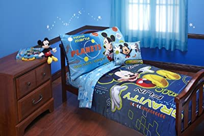 Disney 4 Piece Mickey Mouse Space Adventure Zero Gravity Toddler Set, Blue
