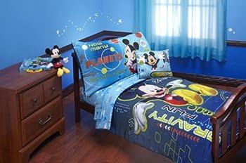 Disney 4 Piece Mickey Mouse Space Adventure Zero Gravity Toddler Set Blue