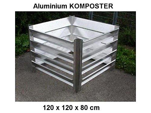 KOMPOSTER 120 x 120 x 80 (Innenmaß) aus witterungsbeständigem Aluminium, Metall