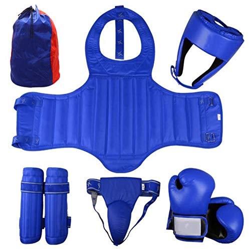 Yx-outdoor Muay Thai Sparring Beschermingsset 8 stuks, pantser, leggings, helm, Jockstrap, Gumshield, allround bescherming