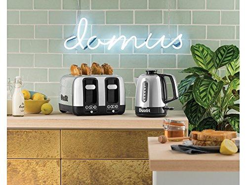 Dualit COS910117 Domus 1.5L Kettle & 4 Slot Toaster Set, Black