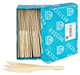 GRÄWE Einwegbesteck Holzmesser, 100 Stück, Holzbesteck, umweltfreundlich aus Holz, biologisch abbaubar
