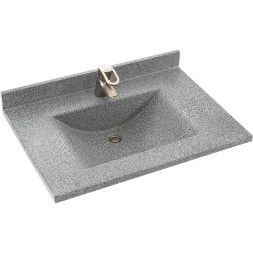 Swanstone CV02237.042 Contour Solid Surface Single-Bowl Vanity Top, 37-in L X 22-in H X 6.25-in...