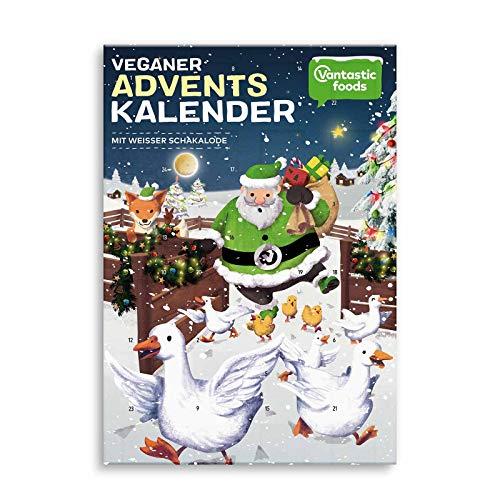 Adventskalender vegan, weißeSchokolade