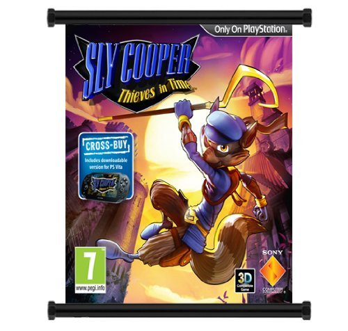 Yutirerly Sly Cooper: Thieves in Time Game Fabric Wall Scroll Poster (16' x 17') Inches