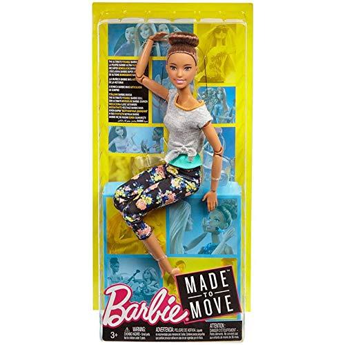 Boneca Barbie Articulada Morena - Made to Move - Mattel