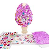HONG Uova di Pasqua ,Fai-da-Te Fatte a Mano per Bambini,Giocattoli per Fabbricazione Creative dipinte con Fiocchi di Neve e Fango per Feste di Pasqua Decorazioni Fai-da-Te (viola)