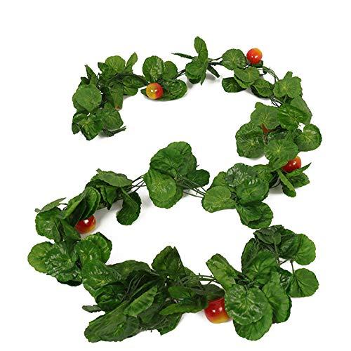 5 unids/cadena artificial falso frutas/vides vegetales colgantes plantas grandes hojas guirnalda para boda fiesta decoración del hogar