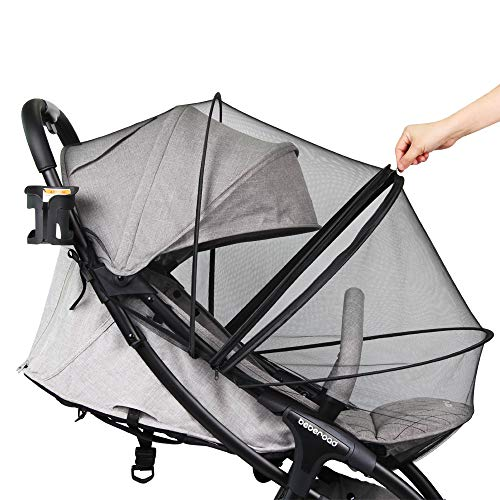 Mosquito Net, Beberoad 2020 New Patent Universal Mosquito Net with Quick Window, Quick Connect Design, Fits to Crib, Bassinet and 95% Strollers(Black)…