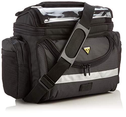 Topeak TourGuide Handlebar Bag DX Bolsa, Unisex Adulto, Negro, Talla única