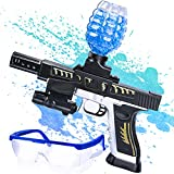 Nazano Water Ball Toys Gun — Shoots Eco-Friendly Water Beads with Electric for Fun and Outdoor Activities-Fighting Shooting Team Game for Boys and Girls Ages 12+ (Black & Sliver)