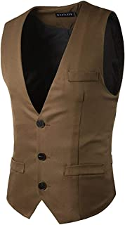 Vest Suit Vest Slim Gilet Fit Business Suit Modern Casual Vest Men Vest V Neck Men Casual Waistcoat