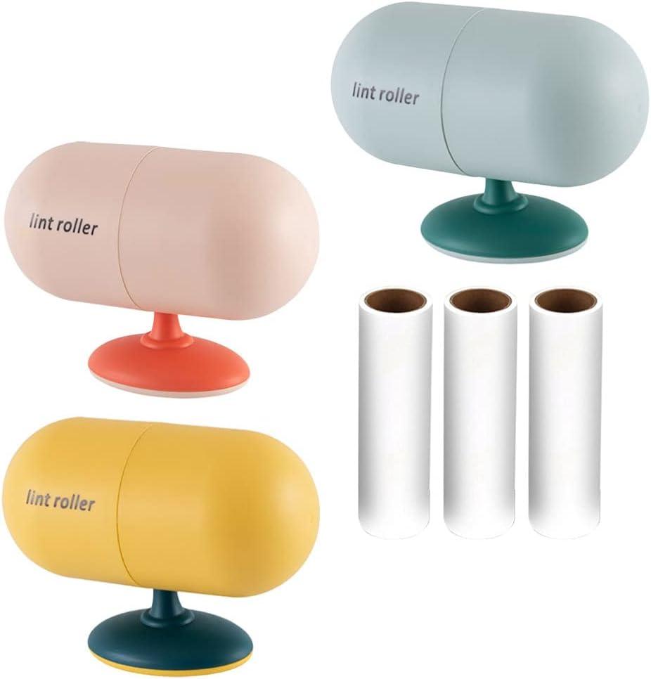 Balacoo 6 Piezas de Rodillo de Pelusa Adhesivo Removedor de Pelo para Mascotas Cepillo de Pelusa Limpiador de Cepillos para La Ropa Asientos de Coche Polvo Perros Muebles 3 Colores
