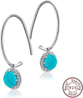 JJGL Hanging Earrings For Women Stone Earring 925 Sterling Silver Jewelry