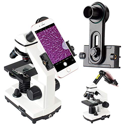 2019 New Version Microscope Lens Adapter, Microscope Smartphone Camera Adaptor - for Microscope Eyepiece Tube 23.2mm, Built-in WF 10mm Eyepiece - Capture and Record The Beauty in The Micro World