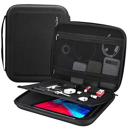 "ProCase Portfolio Sleeve Case Organizer Carry Bag for iPad Pro 12.9 5th 2021/ 4th 2020/ 3rd 2018, MacBook 11""/ Surface Pro X 7-1, Business Travel Briefcase Organizer Bag -Black"