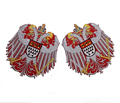 Bügelbild Kölner Wappen bunt Kölle Alaaf - 2 Stück